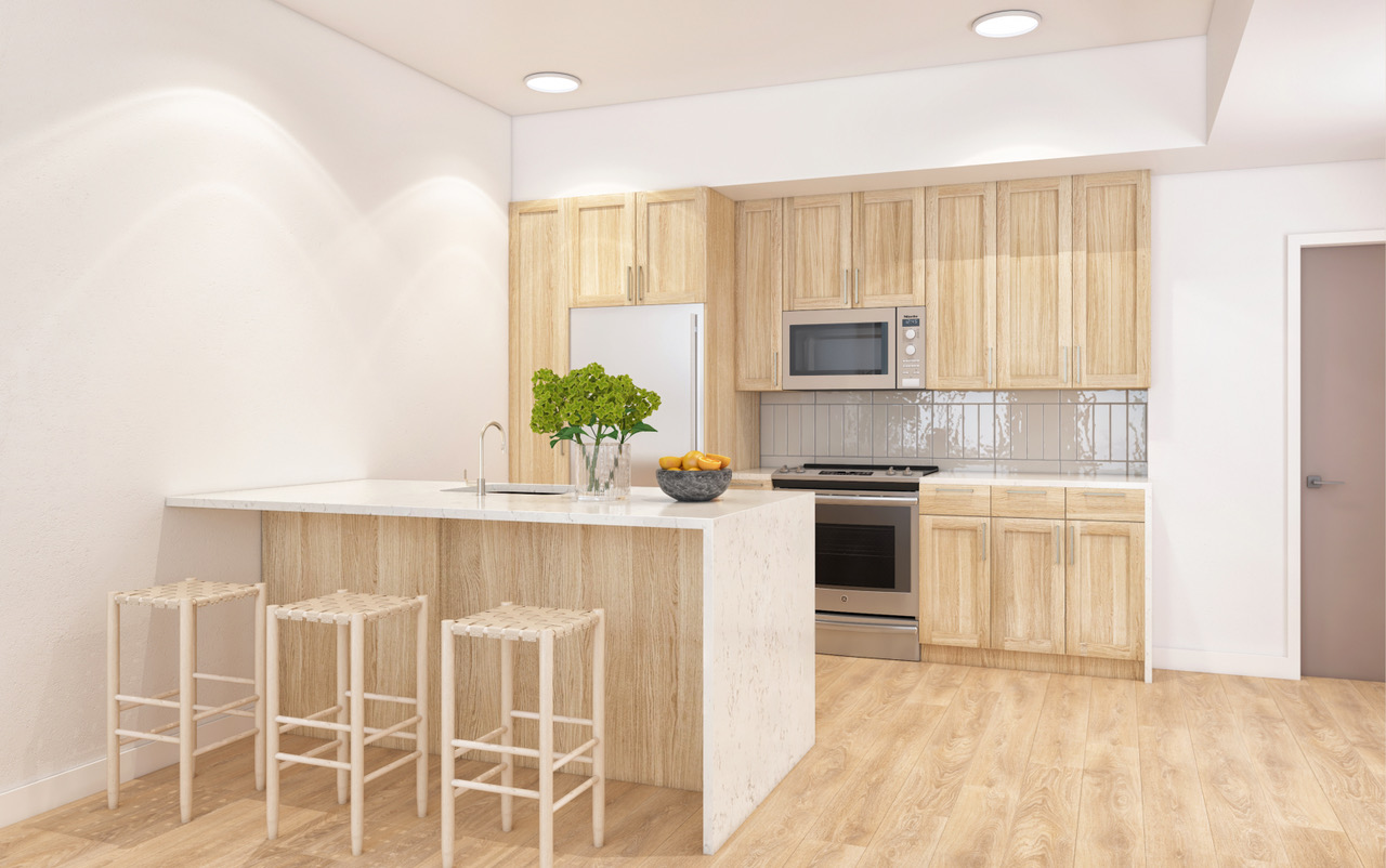Hearth - Unit kitchen view